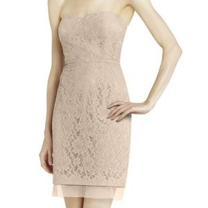 BCBG Roselle Fitted Strapless Dress Lace